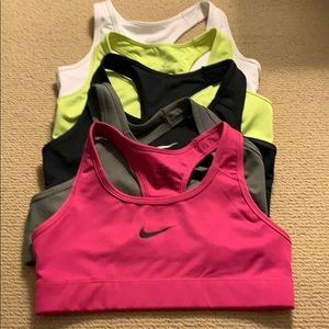 5 small NIKE Victory bras